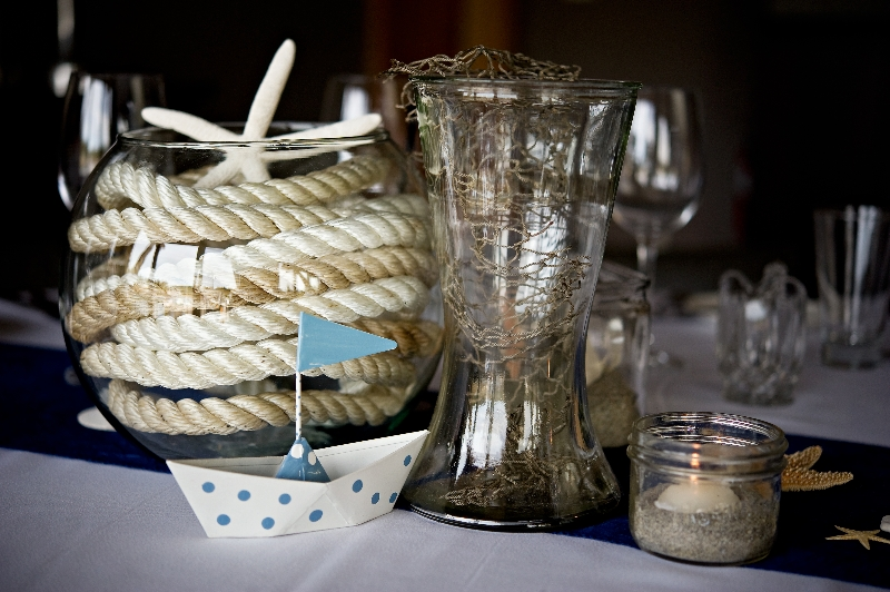 Nautical inspired wedding on the BC Coast